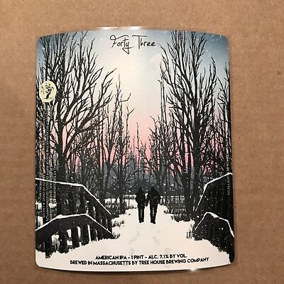 TREE HOUSE BREWING CO BEER CAN LABEL STICKER CURIOSITY 43 CANS C C43 Julius Haze