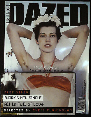 DAZED &CONFUSED June 1989 MILLA JOVOVICH Bjork CHRIS CUNNINGHAM @New+VHS+Supplem