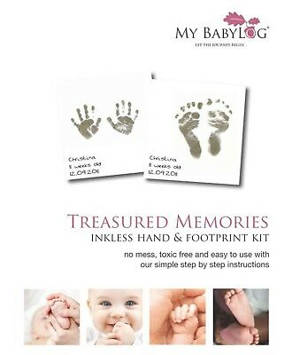 My Baby Log Inkless Wipe Hand And Foot Print Kit Casting Non Toxic Safe To Use