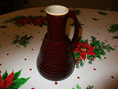 MARCREST DAISY & DOT HANDLED JUG Vintage Brown Pottery Carafe Stoneware Pitcher