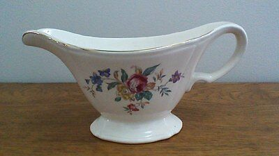 Vintage Edwin M. Knowles China Co. Floral Gravy Boat