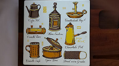 Tile Wood Collectible Kitchen Cheese Cracker Table Home Decoration Party Tray