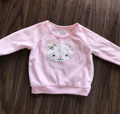Carters Baby of Mine Baby Girls Cat Pullover 0-3 months