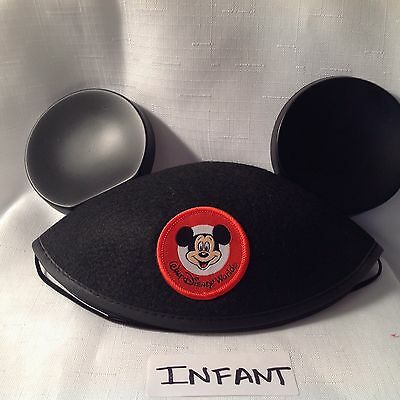 Walt Disney World Mickey Mouse Ears Hat - Infant Size Black (embroidery removed)