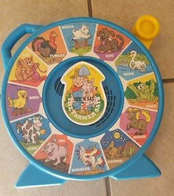 Vintage 1989 Mattel See N' Say The Farmer Says Animal Sounds Toy