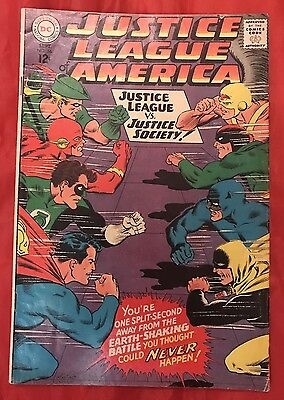 Justice League of America #56 1st GA Wonder Woman In SA 1968 Silver Age DC VG/FN