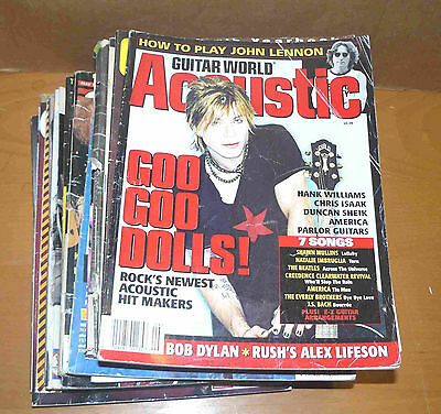 Lot of 22 misc guitar magazines: Guitar World Acoustic, Player, Vintage Guitar