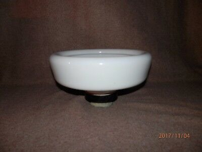 "Large Milk Glass Water Bubbler Drinking Fountain Bowl 10 1/2"" W, 6"" T"