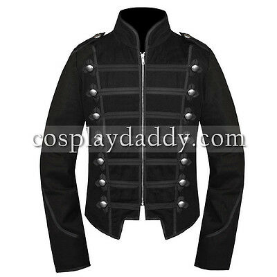 My Chemical Romance Unisex Black Jacket Emo Military Parade Outfit L005