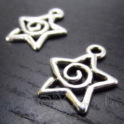 Islamic Star Charms 12mm Antiqued Silver Islam Pendants C3041-20 50 Or 100PCs