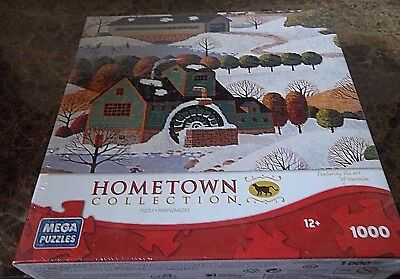 Mega Puzzles 1000 piece: Hometown Collection: Winter in Vermont NEW SEALED.