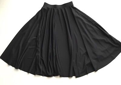 Body Wrappers 511 Black Character Dance Below Knee Long Circle Skirt Adult Small