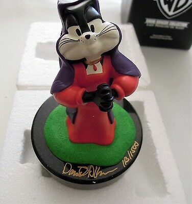 David Kracov Collection Sir Pepe Le Pew  Figurine Lady Penelope of Scent  Signed