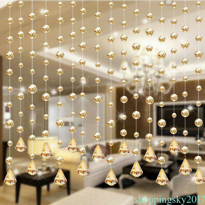 1M Glass Crystal Bead Curtain Fashion Luxury Home Living Bedroom Decoration SK1