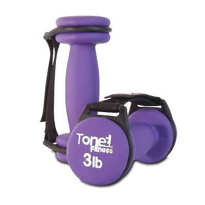 Set of 2 Purple Walking Dumbbells Body Lose Weight Exercise Workout Aerobic 3 Lb
