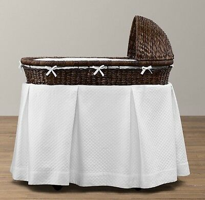 Restauration hardware brand baby bassinet and mattress,Espresso