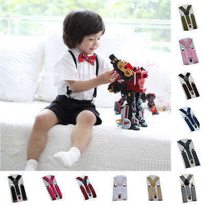 2018 Clip-on Elastic Braces Suspenders For Kids Boy Girl Children Pants Trousers