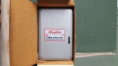 DAYTON 2E131 Timer Switch Single Pole Double T1905 4 hr Intermatic 24 hour