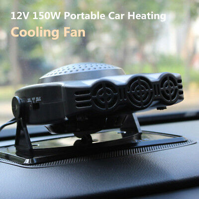 New Style 12V 150W Portable Car Heating Cooling Fan Heater Defroster Demister CA