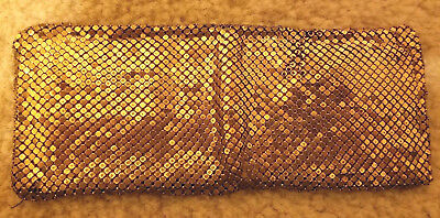 Vintage Estate Gold Tone Whiting & Davis Mesh Folding Wallet