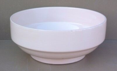 Saladier plat rond creux DIGOIN ROSE POUDRE vintage ancien table french dishes