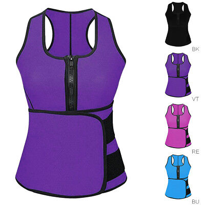 Sauna Waist Trainer Vest Shapewear Slimming Adjustable Sweat Belt Body Shaper AU
