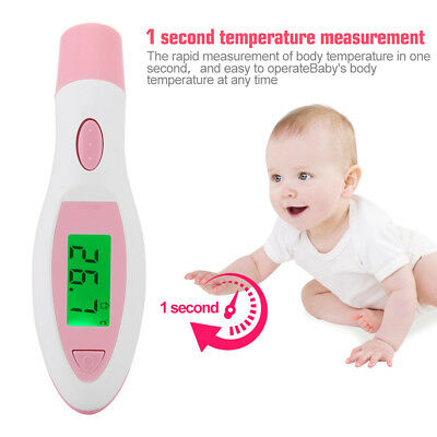 LCD Digital IR Infrared Thermometer Forehead HomeBaby Body Ear Temperature Meter