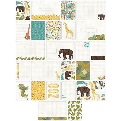 Becky Higgins Project Life Themed Cards - ANIMAL - ZOO - 40 Cards
