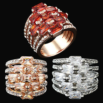 EG_ Women's Gold Plated Crystal Zirconia Rhinestone Ring Band Finger Jewelry Fas