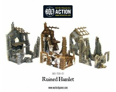 Warlord Games - Bolt Action - Ruined Hamlet (3x buildings)
