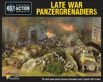 Warlord Games - Bolt Action - Late War Panzergrenadiers (30 plus 3 hanomags)