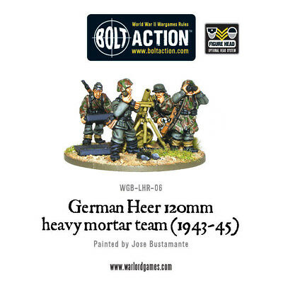 Warlord Games - Bolt Action - German Heer 120mm Heavy Mortar (1943-45)