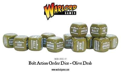 Warlord Games - Bolt Action -  Würfel - Olive Drab (12)