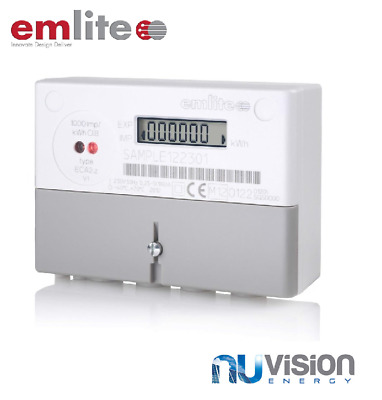 Emlite1-ph (1000 pulse/kWh) GENERATION METER 100A OFTEC E110 5235B Inc COVER