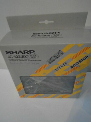 SHARP JC- 102  bk STEREO CASSETTE PLAYER - BOXED NEW - NEVER USED