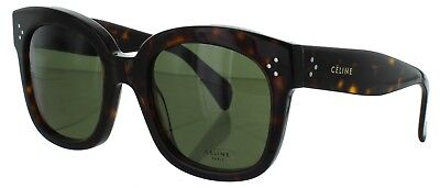 Celine Women's CL 41805/S Dark Havana Green Lens Audrey Sunglasses  54mm ITALY