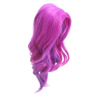 32cm Curly Hair Heat Resistant Wig for 18'' American Girl Dolls ACCS Fuchsia