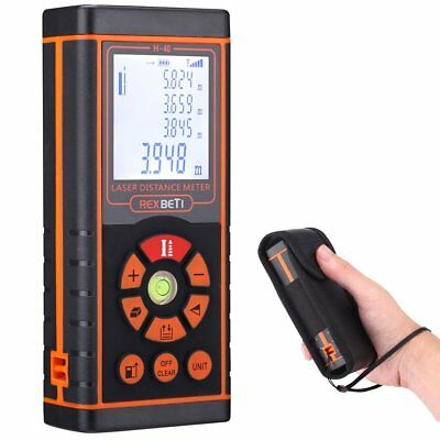 Laser Distance Measure, RexBeTi Handheld Compact 131FT/40M Laser Meter with