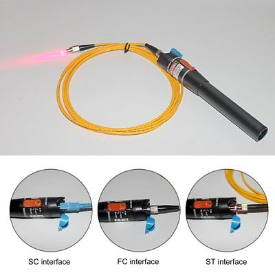 10mW 10KM Visual Fault Locator Fiber Optic Laser Cable Tester Test Equipment A0