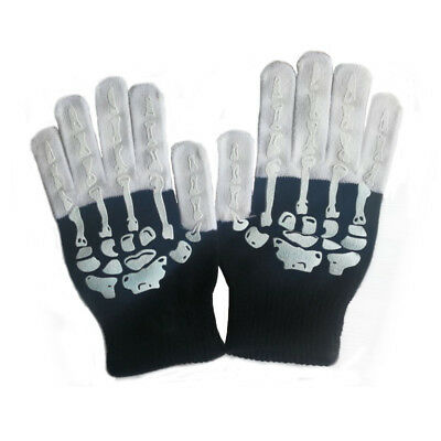 Black And White Glove Flashing Glove LED Glove Flashes With Different Colors