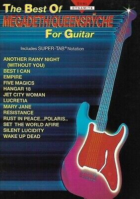 Partition guitare - The best of Megadeth queensryche