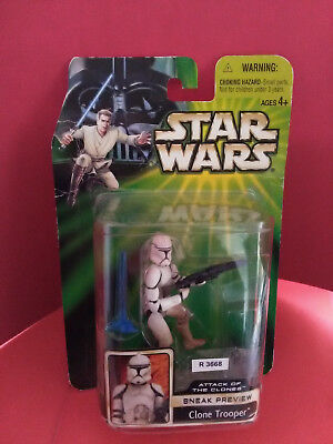 Star Wars Clone Trooper - Sneak Preview - Attack Of The Clones - 2001 - Ref 3668