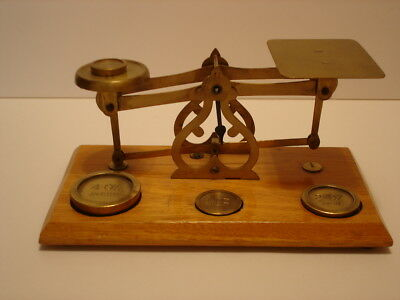 Vintage Avery Brass Balance Scale w/Weights Made in England
