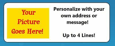"60 Personalized ""Create Your Own"" Return Address Labels"