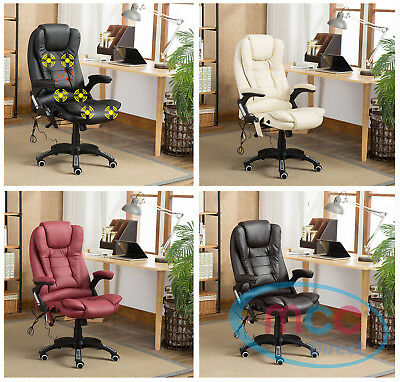 MCC® Executive Faux Leather Massage Heating Office & Desk Chair Swivel Recline