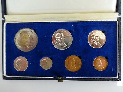1967 South Africa 7 Coin Proof Set in Original Mint Box - Very Nice Set