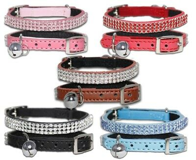 Cat Collars Diamante Cluster With Elastic Safety Belt and Bell Pet Collar Coller