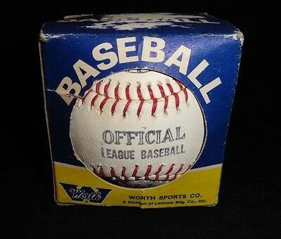 Old Vintage Worth Official League Baseball Unused In Original Box