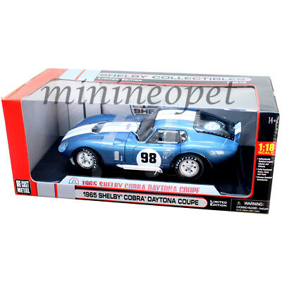 Collectibles 130 1965 Shelby Cobra Daytona Coupe 1/18 Diecast Model Car Blue