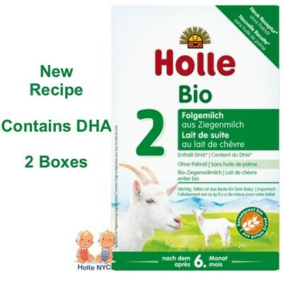 Holle Goat Milk Stage 2 Organic Formula with DHA 2 Boxes 400g Free Shipping